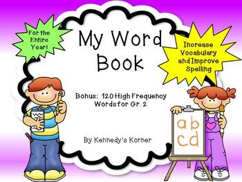 My Word Book ~ Dictionary plus Word Wall cards