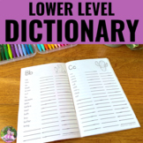 Personal Student Dictionary with Dolch & Fry Word Lists Pl