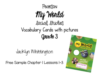 My World Vocabulary Cards Grade 3 SAMPLE