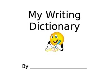 My Writing Dictionary