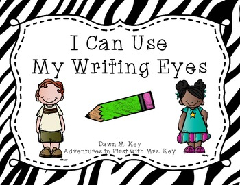 My Writing Eyes {Zebra}