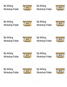 My Writing Workshop Folder Labels - Editable