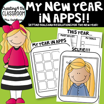 New Years 2017- Resolution Activities- My New Year in Apps!