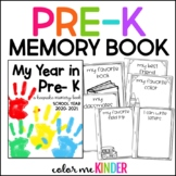 End of Year Pre- K Memory Booklet