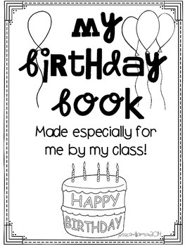 My birthday book