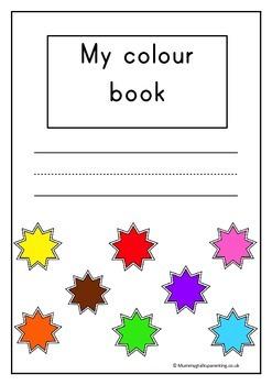 My colour book - teaching prek / preschool their colours