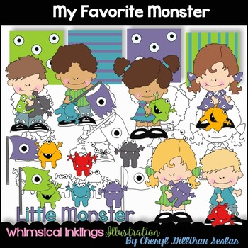 My favorite Monster Clipart Collection
