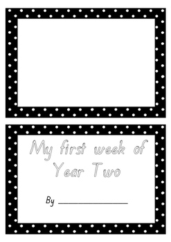 My first week/day of Year 2