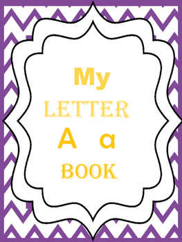 My letter A booklet