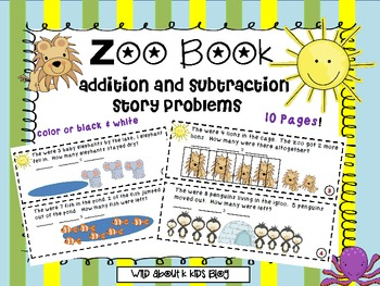 My mini book of zoo story problems