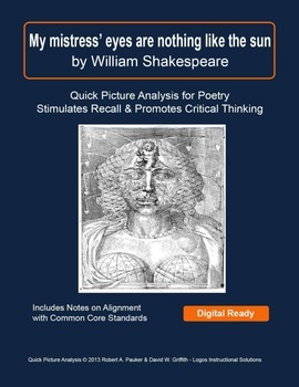 """WILLIAM SHAKESPEARE'S """"My mistress' eyes are ..."""": Quick P"""