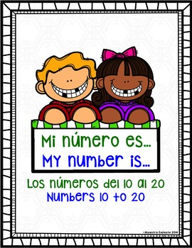 My number is (números del 10 al 20) (Spanish & English tee