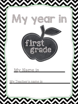My year in 1st Grade - memory book/writing activity