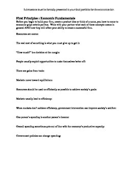 MyFirm Portfolio Project - Economic Principles section