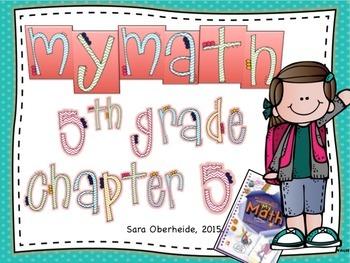 MyMath 5th Grade  Chapter 5 - supplemental resources