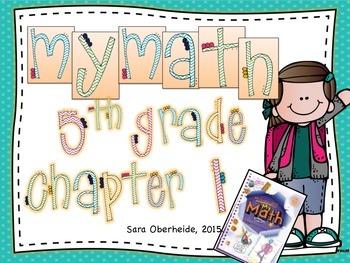 MyMath 5th Grade - Chapter 1 - supplemental resources