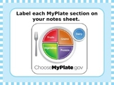MyPlate Nutrition: Introduction Powerpoint [Corresponds to