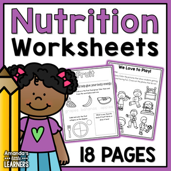 MyPlate Worksheets - No Prep