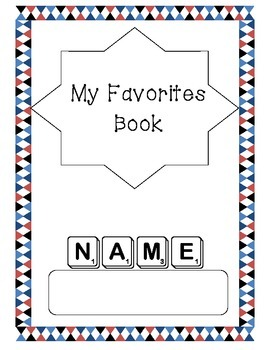 FREE!!My Favorite Things Writing Journal- Get to Kow Your