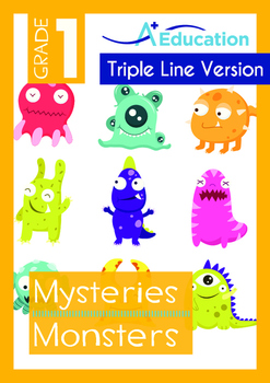 Mysteries - Monsters - Grade 1 (with 'Triple-Track Writing