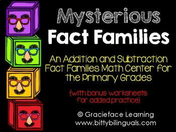 Mysterious Fact Families - Addition and Subtraction Fact F