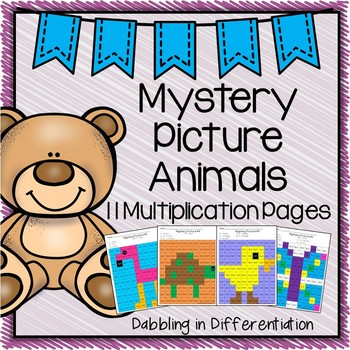 Multiplication Mystery Picture Animals
