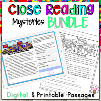CLOSE READING MYSTERY PASSAGES THE BUNDLE