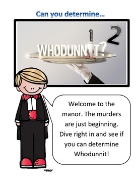 Reading and Math Activity: Whodunnit Mystery Version 2