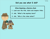 Mystery:Foundational Skills in Disguise Lucy Calkins Lessons 1-8
