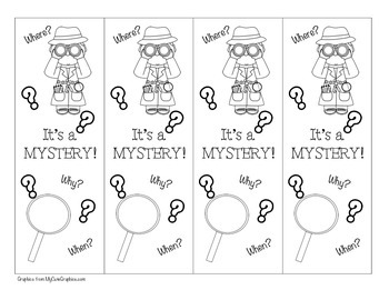 Mystery Genre Bookmark