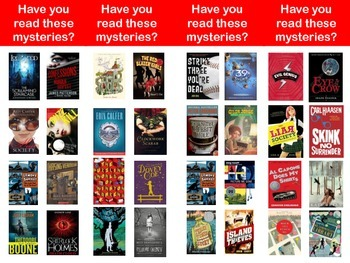 Mystery Genre Bookmarks
