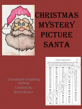 Coordinate graphing- Christmas Mystery picture- Santa Claus