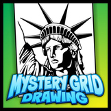 Mystery Grid Art Worksheet - Statue of Liberty