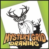 Mystery Grid Drawing Art Project - Deer