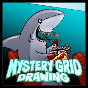 Mystery Grid Drawing - Movie Shark