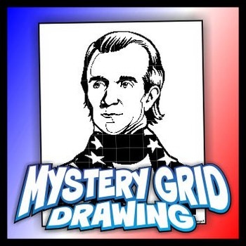 Mystery Grid Drawing President 11 James K Polk