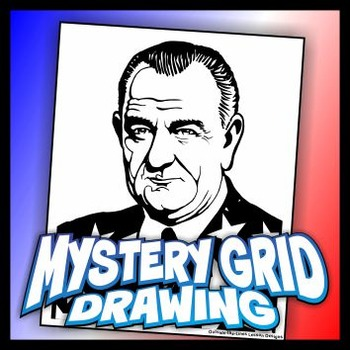Mystery Grid Drawing President 36 Lyndon B Johnson