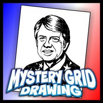 Mystery Grid Drawing President 39 Jimmy Carter