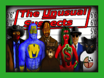 Mystery Math Game - The Unusual Suspects 3rd Grade