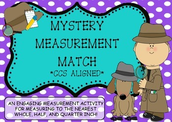 Mystery Measurement Match - Nearet Whole, 1/2 and Quarter Inch!