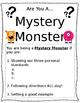 Mystery Monster editable
