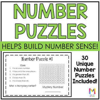Place Value Mystery Number Puzzles