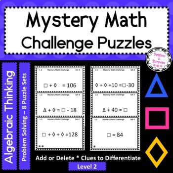 Mystery Number Puzzles - Level 2 - Task Cards - Critical T
