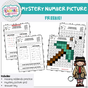 Addition and Subtraction Missing Numbers Mystery Number FR
