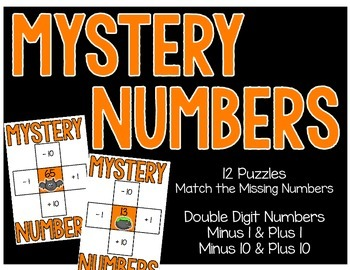 Mystery Numbers - 10 more, 10 less