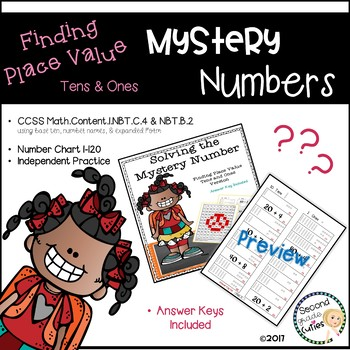 Mystery Numbers....Math Fluency....Place Value version: On