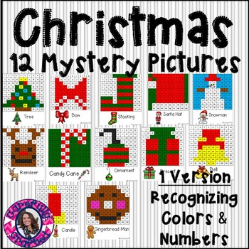 Christmas Mystery Pictures- Hundreds Chart Recognizing Col