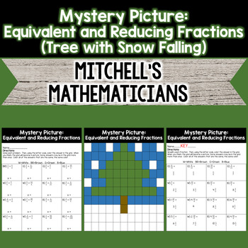 Mystery Picture For Writing Equivalent Fractions and Reduc