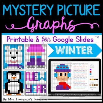 Mystery Picture Graphs - Winter/January/New Year Pack