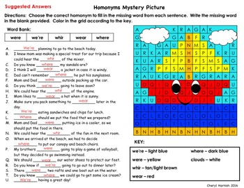 Mystery Picture Homonyms - Easily Confused Words